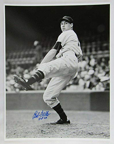 Autographed Bob Feller Photo - 11x14 w HOF I - Autographed MLB Photos