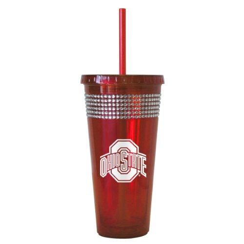 NCAA Ohio State Buckeyes Bling Straw Tumbler, 22-ounce