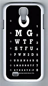 Eye Test Funny Polycarbonate Hard Case Cover for Samsung Galaxy S4 I9500¨C White