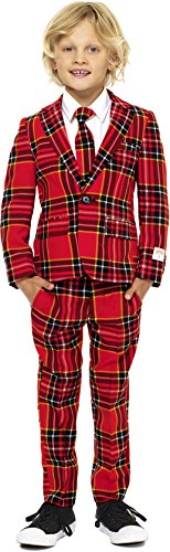 Boys 'The Lumberjack' Party Suit and Tie by OppoSuits, Size 6