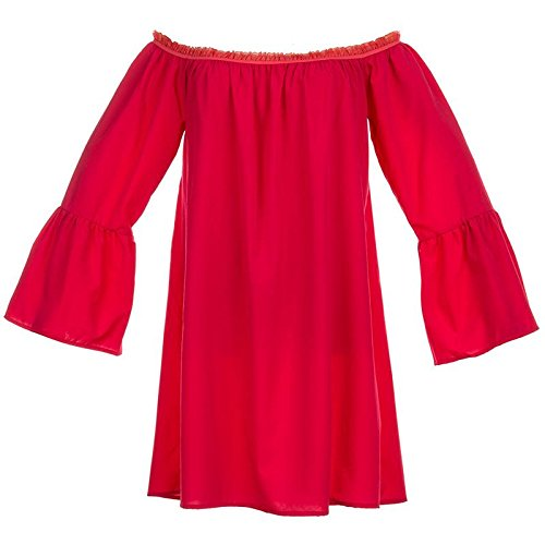 Mesdames Bslingerie Hors Épaule Robe Tunique Robe Une Pièce De Manchon De Plage Bishop Au 8-16 Rouges