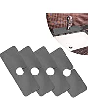 HZYX Kitchen Faucet Absorbent Mat,Grey Faucet Wraparound Absorbent Mat,Sink Splash Guard for Kitchen Bathroom Faucet Counter , Countertop Protector for Kitchen