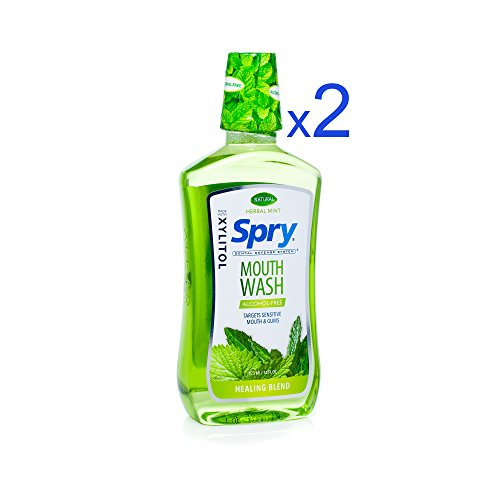 - Spry Alcohol-Free Xylitol Mouthwash, Natural Herbal Mint, Healing Blend - 16 fl oz (2 Pack)