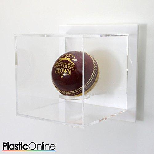Cricket Ball - Estuche expositor para pared, color blanco: Amazon ...