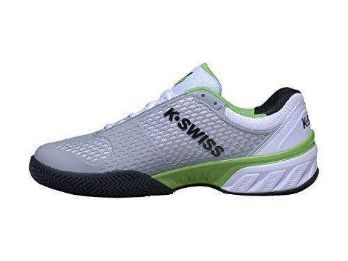 K-Swiss Bigshot 2.5 - Zapatillas para hombre, color blanco / negro / verde, talla 44 blanco / negro / verde