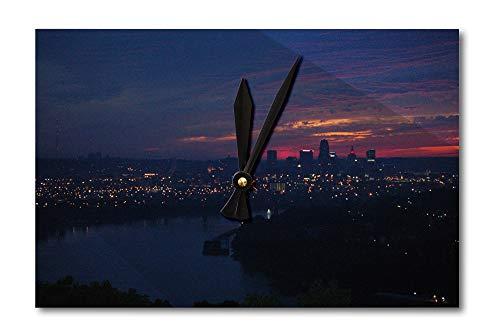 Lantern Press Cincinnati, Ohio - City Lights at Night - Photography A-92633 (Acrylic Wall Clock)