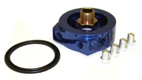 Oil Filter Adapter plate Nissan toyota dodge 3/4 UNF-16 sandwich plate Prosport Gauges Inc. 3/4UNF-16