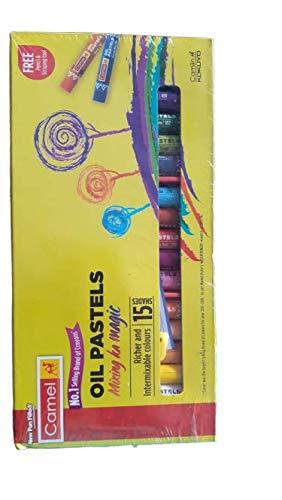 Camel Oil Pastels Non- Toxic Crayons 15 Shades