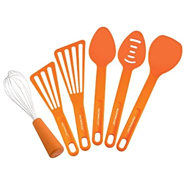 Rachael Ray 55737 Tools and Gadgets 6-Piece Kitchen Tool Set, Orange