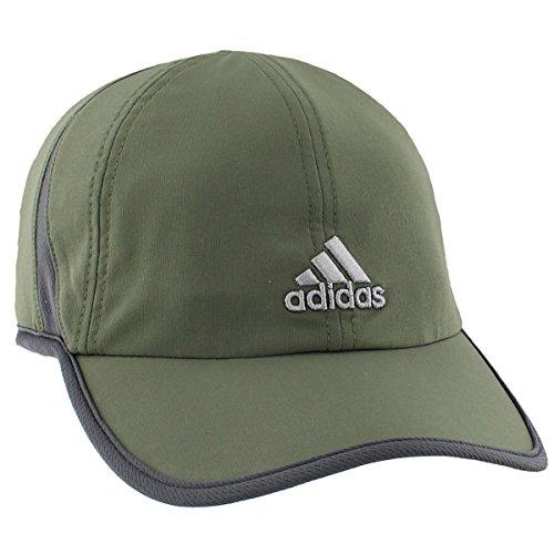 adidas Men's Adizero II Cap, One Size, Base Green/Dark Grey/Grey (Dark Green Baseball Hat)