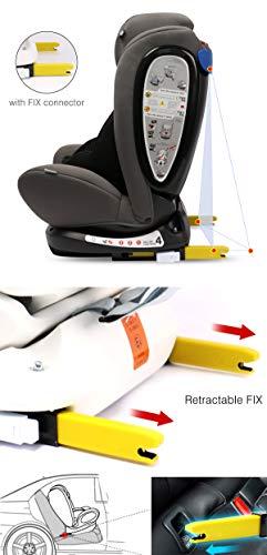 LETTAS Seggiolino auto gruppo 0+1/2/3 Fascia d'età: Bambini da 0 mesi a 12 anni - da 0 a 36 kg,reclinabile 4 posizioni… 2 spesavip