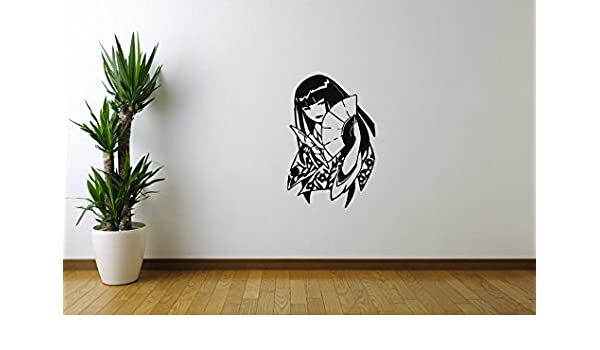 Amazon.com: WonderDecals Japanese Girl Anime Wall Decal ...