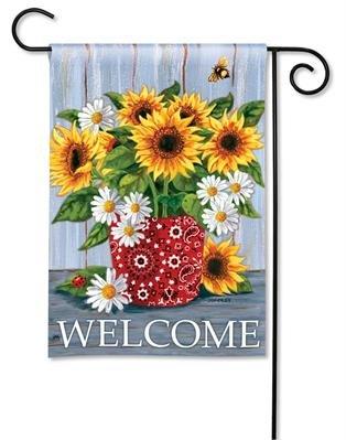 BreezeArt Bandana Sunflowers Garden Flag 31095