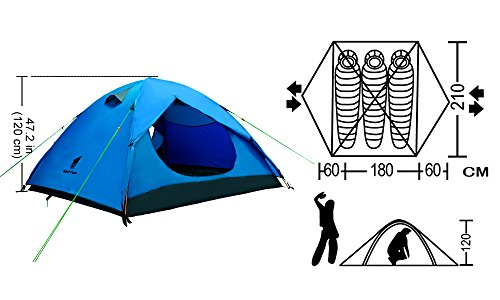 Geertop 2-3 Person Tent 3-4 season Backpacking Tent For C&ing Hiking Travel  sc 1 st  Importitall & Geertop 2-3 Person Tent 3-4 season Backpacking Tent For - Import It All