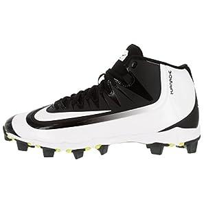 Nike Men's Huarache 2KFilth Keystone Mid Black/White/Volt Baseball Cleat 10 Men US