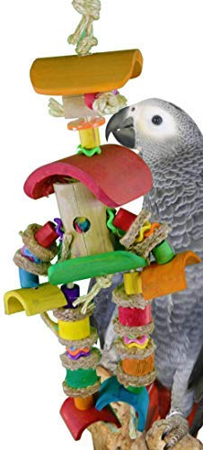 Large Bamboo Man Bonka Bird Toys 1319 Large Bamboo Man Bird Toy Parred cage Toys Cages African Grey Amazon Macaw