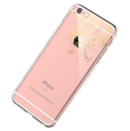 Cover iPhone 6S, Custodia iPhone 6S Caso Silicone TPU Ultra Sottile Anti-Graffio Custodia Morbida Copertura Protettiva Cover Case per Apple iPhone 6S / 6Plus 07