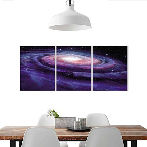 Auraise-home Customize Wall Stickers House Modern Spiral Galaxy Andromeda Milky Way Cosmic Dust Infinity GlowMystery Dark Blue Purple Triple Art Stickers (Disney Infinity Triple Pack)
