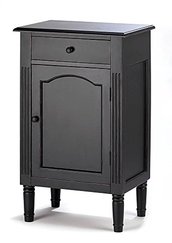 Zingz & Thingz 39092 Wood Cabinet for Home, Office, Spa Weddings, Party, Or Special Occasions, Antiqued Black by Zingz & Thingz