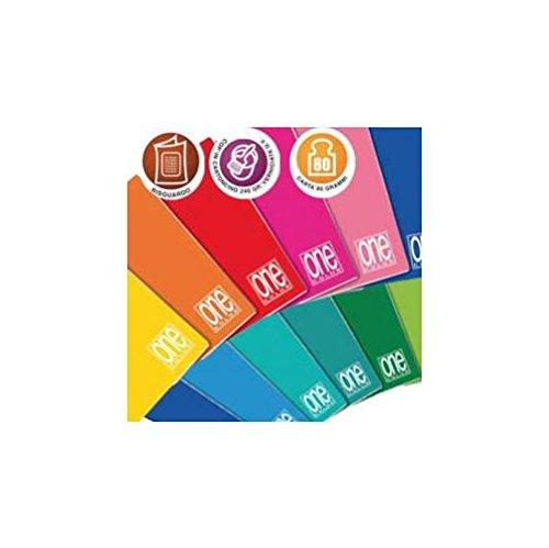 Quaderno A4 One Color Blasetti - quadretti 4 mm - 42 ff