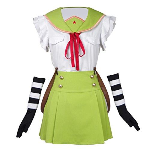 Kurumi Cosplay Costume - Xiao Maomi Womens Hot Sale Ebisuzawa Kurumi Green Cosplay Costume Uniform (M, Green)