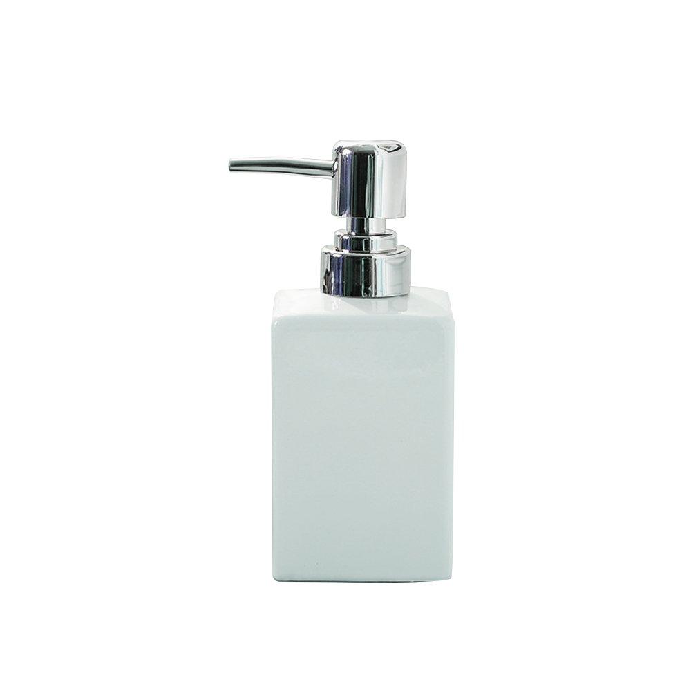 Dispenser di sapone pompa, Handingsm quadrato ricaricabili in ceramica dispenser di sapone liquido per cucina, bagno Black Others