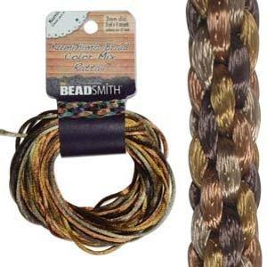 3mm Satin Rattail Braiding Cord Wheatberry 12 Yards For Kumihimo and Craft by Beadsmith   B008UJKUSA