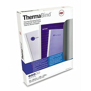 GBC 45445 Copertine per Rilegatura Termica Standard, 1.5 mm, Confezione da 25, Bianco ACCO Brands GB21885