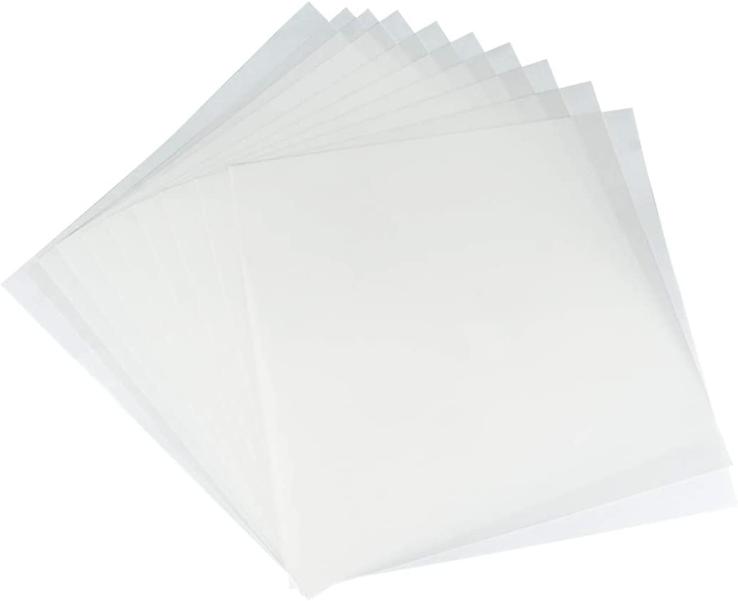 JINSEY Make Your Own Stencil - 10 Pack 6 Mil 12 x 12 inch Blank Stencil Sheets - Ideal Use Compatible & Silhouette Machines (White)