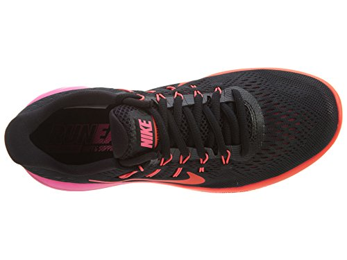 Nike Vrouwen Lunarglide 9 Loopschoen Zwart / Multi Color / Rood