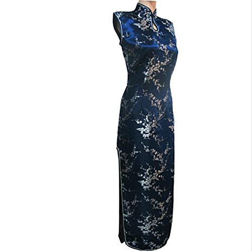 Thytas New Arrival Red Chinese Traditional Dress Women Silk Satin Cheongsam Long Dripping Qipao by Thytas (Image #2)