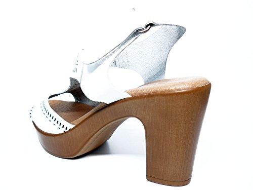 Cierre Mujer Velcro Piel Colores Valero 13 Sandalia Blanco Corda 14 Y Natural Disponible Funny Tacón En Alto 732 OqC6wC