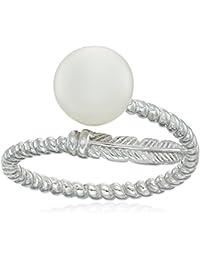 Fancy Freshwater Open Size Sterling Silver Ring