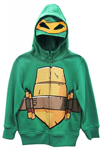 Teenage Mutant Ninja Turtles Michelangelo Boys Costume Zip Up Hoodie (Boys -