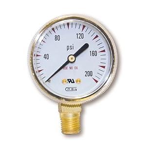 US Forge 08034 Victor Style Low Pressure Gauge for Oxygen Regulators 0-200 P.S.I.