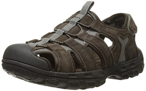 Skechers Men's Selmo Fisherman Sandal, Brown, 11 M US