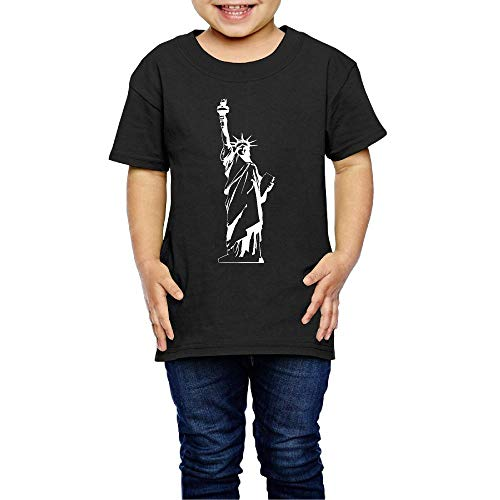 Statue of Liberty Costume Kids Boys Girls Crew Neck Short Sleeve Shirt Tee for 2-6 Toddlers ()