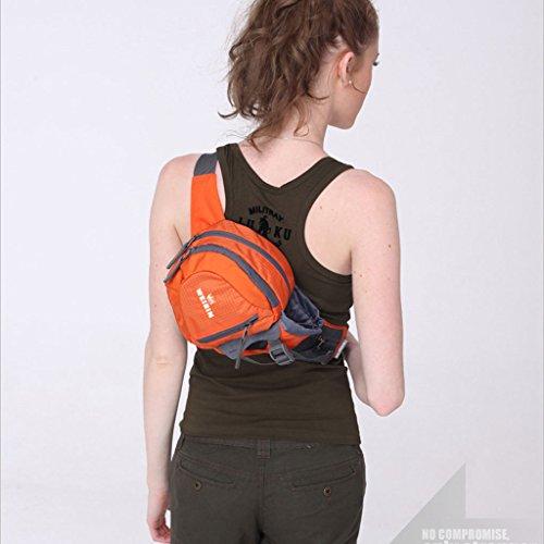 Tragbares Outdoor-Sport-Taschen lässige Männer Messenger bag Taschen Farbe Berg Orange