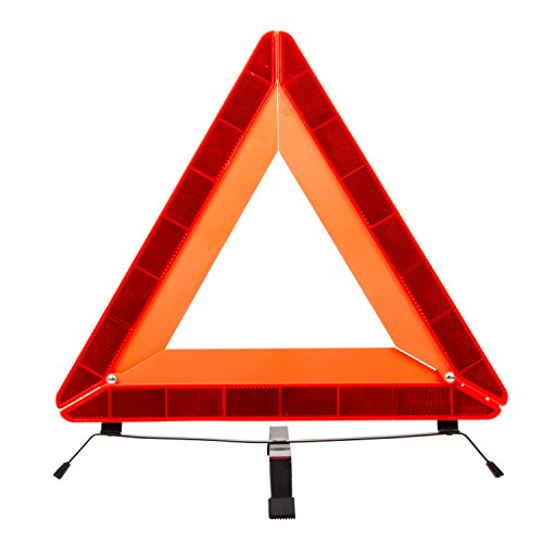 autvivid LED Safety Warning Triangle Reflector 17 Inch Emergency Road Flasher
