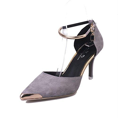 scarpe Thirty con tacco five fine tacco scamosciata alto Scarpe donna alto da cinturino in pura con pelle donna e qxggP1Tw7