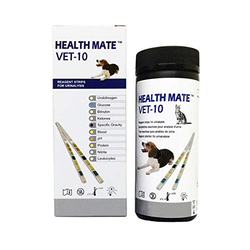 Easy Dog, Cat Pet Health Urine 10 Parameter Test Strips (Pack of 25)