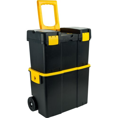 (Stalwart Stackable Mobile Tool Box with Wheels)