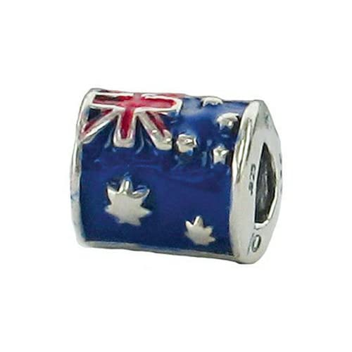 Zable Sterling Silver Australia Flag 1934 Pandora Compatible Bead/Charm - 41XnbiABFoL. SS500 - Getting Down Under Bracelets