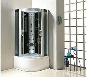 Cabina de ducha lima 9911 * Tamaño: 900 x 900 x 2200 mm * Alta calidad * * Vidrio templado de 6 mm de espesor de 5 mm acrílico sanitario 4 Jets