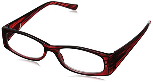 Revolutionary Readers, 3 Levels of Vision. +2.50 Cat Eye Red Plastic Reading - Reading Glasses Graduated