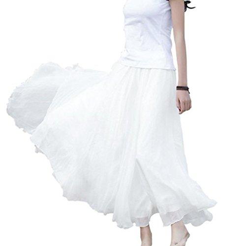 bovake Rock Tutu Tuturock Tütü Petticoat Tüllrock mit Gummizug für Karneval, Party und Hochzeit White