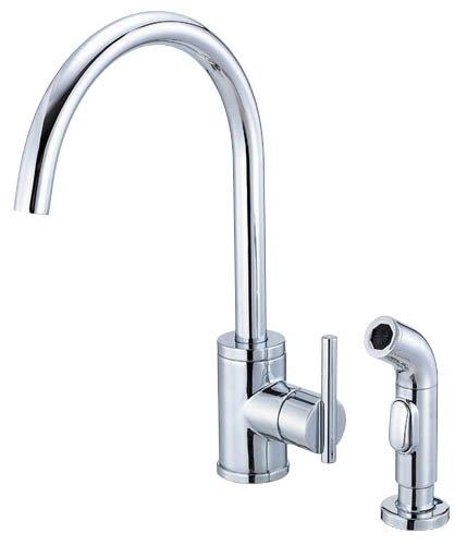 Danze D401558 Parma Single Handle Kitchen Faucet with Side Spray, Chrome - Danze Spray Faucet