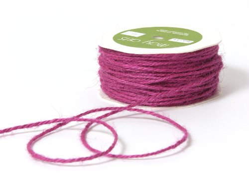 May Arts Ribbon, Grape Burlap String by May Arts