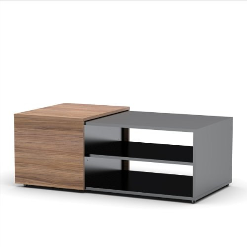 Next Coffee Table 600736 from Nexera, Black and (Contemporary Walnut Table)
