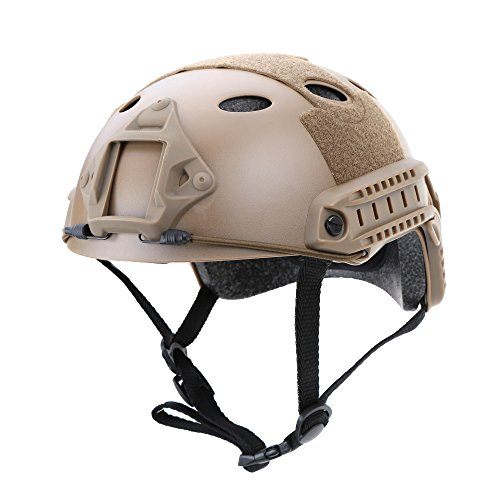 Hubry (TM) 3 Colors Outdoor Helmet Military Tactical Helmet Outdoor CS Airsoft Paintball Base Jump Protective Helmet by Hubry (Image #3)
